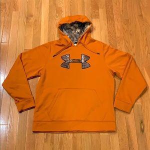 Under Armour Sweatshirt Size Medium Orange/Camo